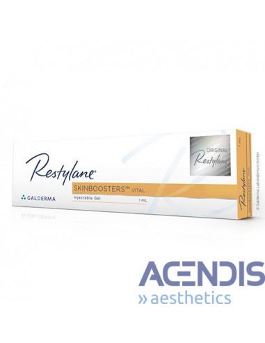 Restylane Vital ist eine Produktreihe für die Hautverjüngung, durch die eine Verbesserung der Hautelastizitä